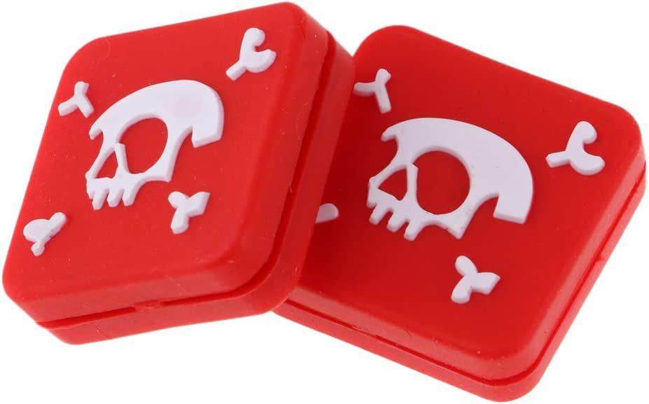 Black//Red B Baosity 2 Pieces Cool Skull Skeleton Square Silicone Tennis Racquet Shock Absorber Vibration Dampeners