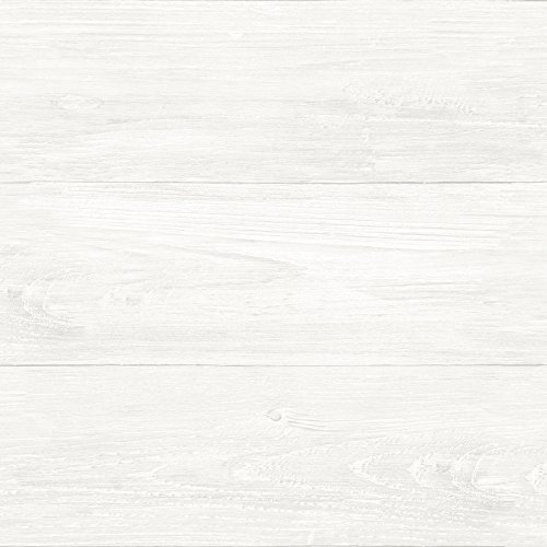 NuWallpaper NU3129 Reclaimed Shiplap Peel & Stick Wallpaper, -