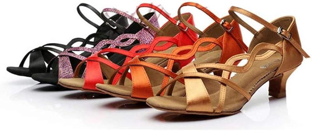 Super frist Womens Ballroom Dance Shoes Latin Salsa Dance Shoes T-Strap Sandals Latin Shoes