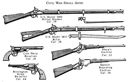 amazon com civil war small arms glossy poster picture photo guns