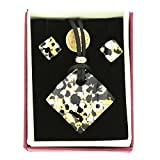 GlassOfVenice Murano Glass Venetian Reflections Jewelry Set - Black Gold