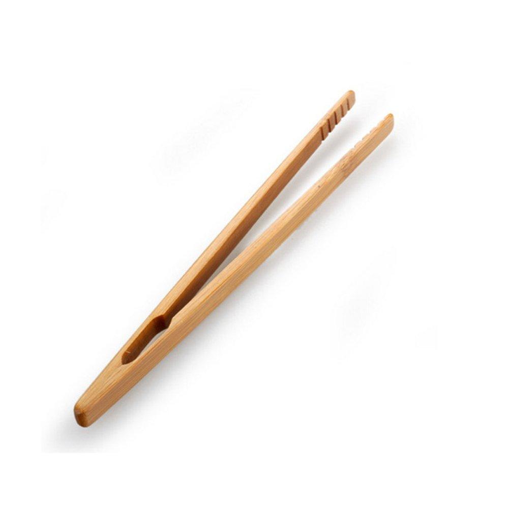 Tea Tweezer Tea Utensil Bamboo Salad Food Toast Bacon Tongs Kongfu Tea Sugar Tea Clip Wooden(style 2)