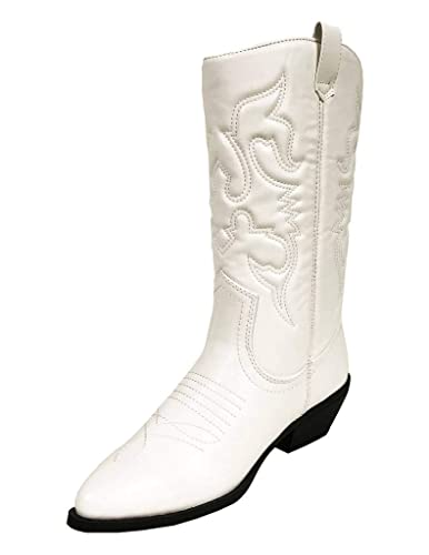 a76c8fdb2c9 Amazon.com | SODA Lustacious Women's Pointy Toe Mid-Calf Western ...