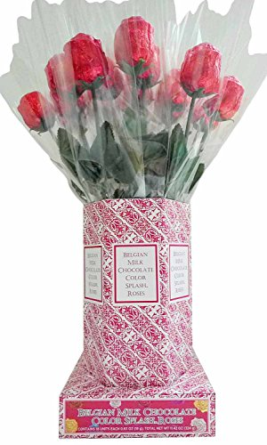 Red Chocolate Rose Bouquet (20pcs) (Chocolate Roses Bouquet)