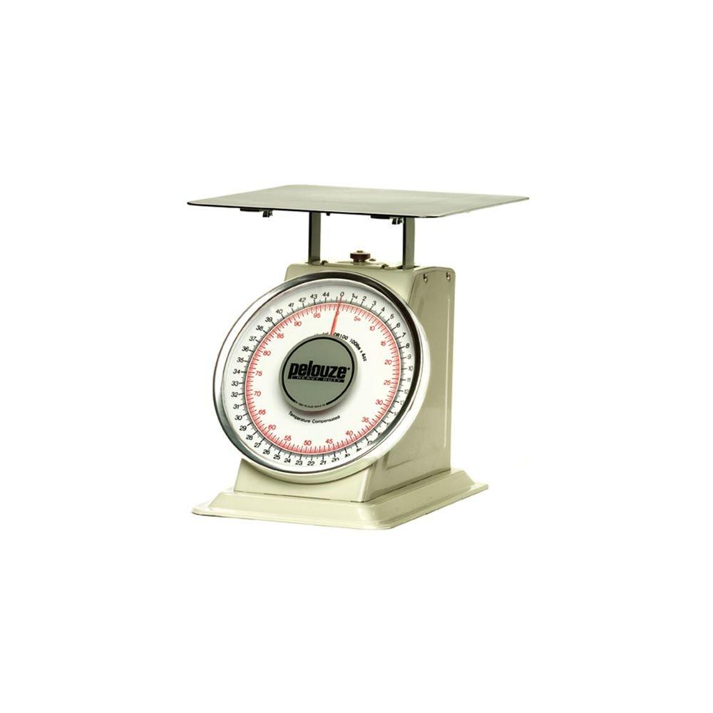 Rubbermaid Commercial Products FG10B100 Pelouze Heavy-Duty Mechanical Platform Receiving Scale, Dual-Read, 100 lb
