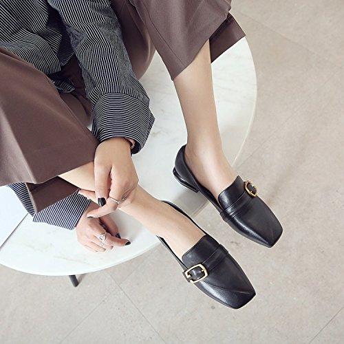 la con Cuadrado Decorativa de del Ocasionales Cómodo Manera Plano los Zapatos ZFNYY Metal 1wE5qPBx