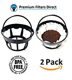 paper coffee filter basket - Reusable Basket Paper Coffee Filter Holder - Works with All 8-12 Cup Basket Coffee Filter Paper