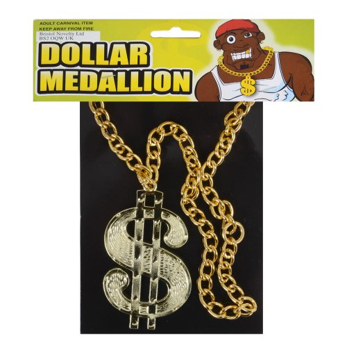 Dollar Medallion On Chain Accessory Fancy Dress