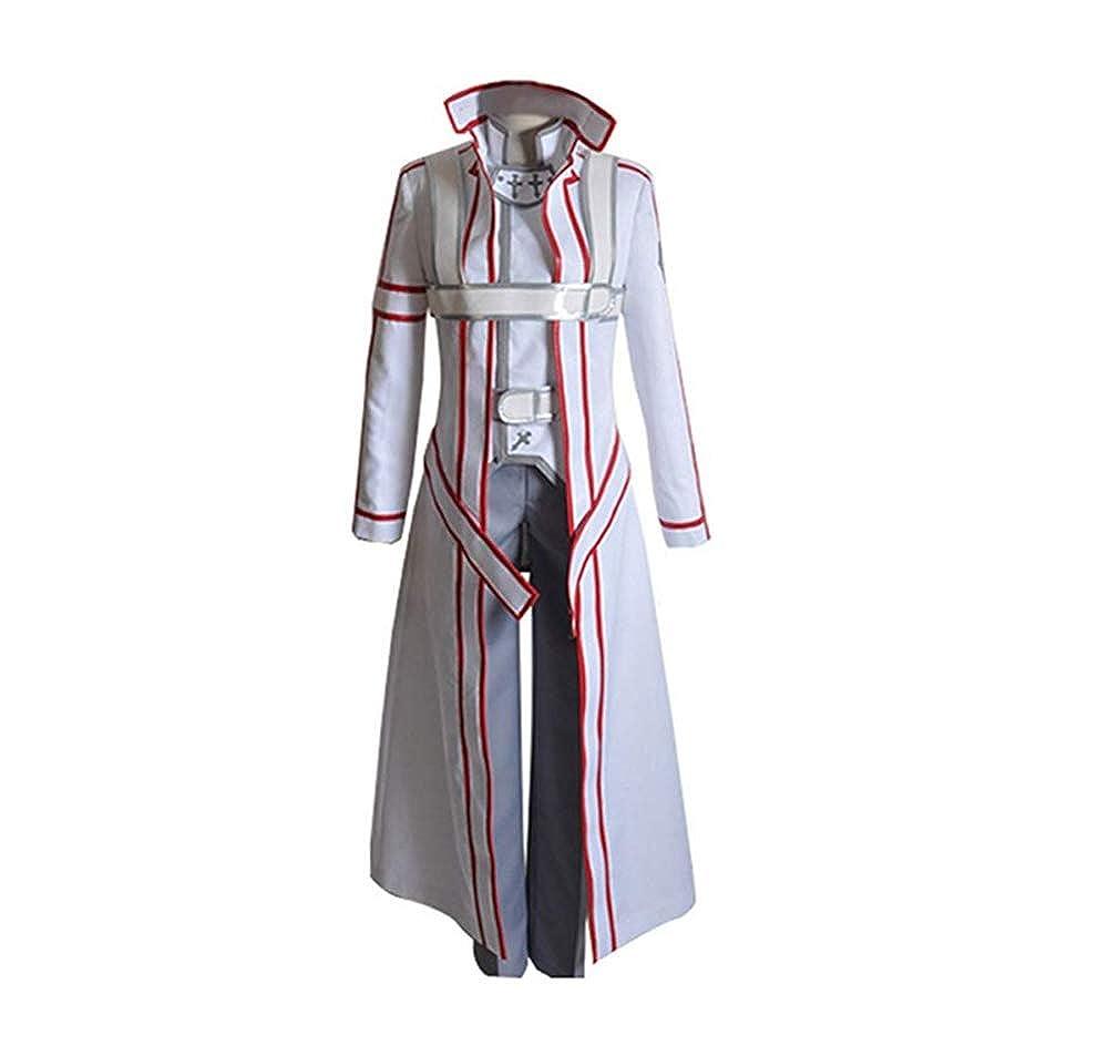 SAO Sword Art Online Kirito Kazuto Kirigaya Trench Coat cloak Cosplay Costume