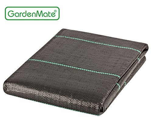 GardenMate 6-Feet by 33-Feet Weed Control Ground Cover Fabric - Heavy Duty Landscape Fabric - UV stabilized to protect against sunlight