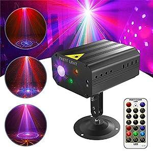 51wJ5cLOnTL. SS300  - GVOO-DiscokugelGvoo-Sound-Aktivierte-Party-Light-LED-Bhnenprojektor-6-Farben-24-Muster-mit-Fernbedienung-fr-Urlaub-Party-Kinder-Geburtstag-Karaoke-Club-Lichteffekte-Weihnach