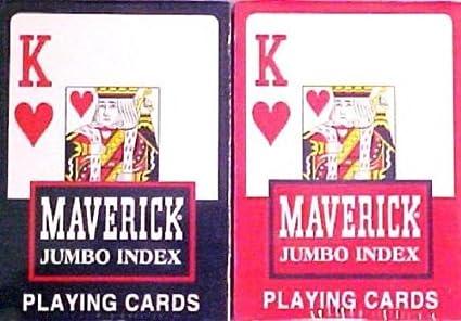 Amazon.com: Maverick Jumbo Tamaño Juego de cartas – 2 ...