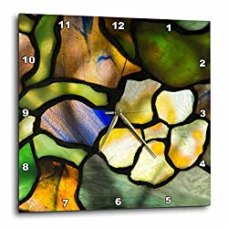 3dRoseNew York, Tiffany Stained Glass lamp Shade Wall Clock 10 x 10