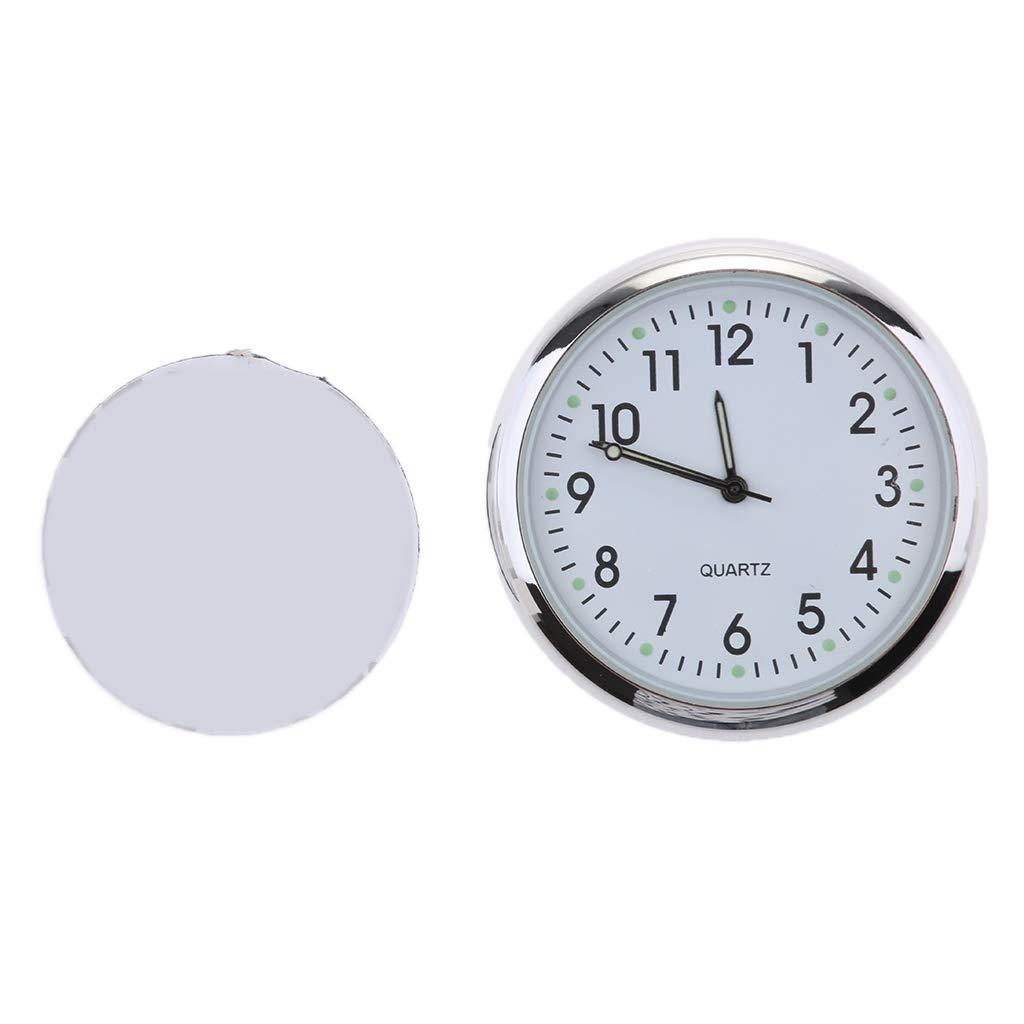 Fluoreszierendes Blau D DOLITY Auto Armaturenbrett Uhr Mini Fahrzeug Uhr