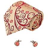 Heart darkkhaki men wearing ties red gift for dad discount silk ties cufflinks set A2031 One Size darkkhaki