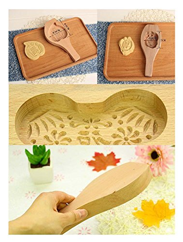 Creative Cartoon Fish Wooden Pumpkin Pie/Moon Cake Baking Mold by Panda Superstore (Image #1)