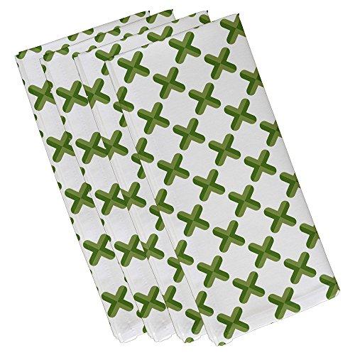 criss cross geometric print napkin