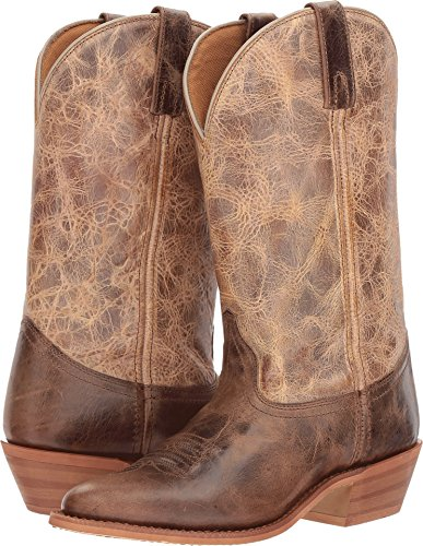 (Dingo Womens Chocolate/Tan Cowboy Boots Leather Cowboy Boots R Toe 7.5 M)