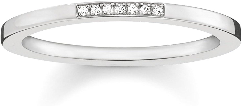 Thomas Sabo - Anillo Mujer, Plata de Ley 925 con Diamante