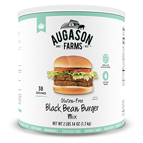 Augason Farms Gluten-Free Black Bean Burger 2 lbs 14 oz No. 10 Can (Best Value Mac Pro)