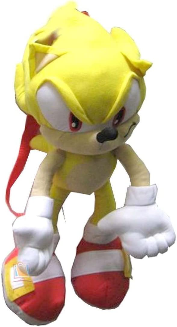 Amazon Com Sonic The Hedgehog Doll Plush Backpack Super Sonic Yellow 24 Inch