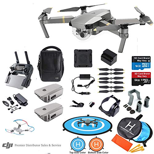 DJI Mavic PRO Platinum Drone Quadcopter Fly More Combo with 3 Batteries, 4K Professional Camera Gimbal Bundle Kit with…