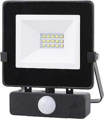 Foco LED con Sensor de Movimiento Negro 10W Proyector LED Exterior ...
