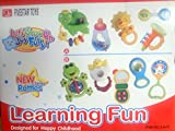 Learning Toys Baby Fun 5 Piece Rattle and Teether Toy Play Set in Milk Botttle Gift