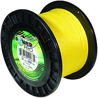 PowerPro Maxcuatro Spectra Hi-Vis Yellow Braided Line