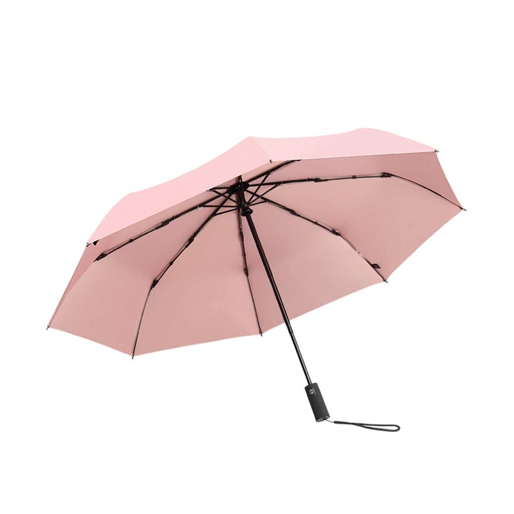 Umbrella Auto Open/Close UV Protection Windproof Waterproof Foldable Compact Slip-Proof Handle for Easy Carry(Umbrella1+Packet1) SYHZHY (Color : Pink, Size : 60100cm)