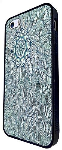 095 - Vintage Aztec Leafs Love And Art Design iphone SE - 2016 Coque Fashion Trend Case Coque Protection Cover plastique et métal - Noir