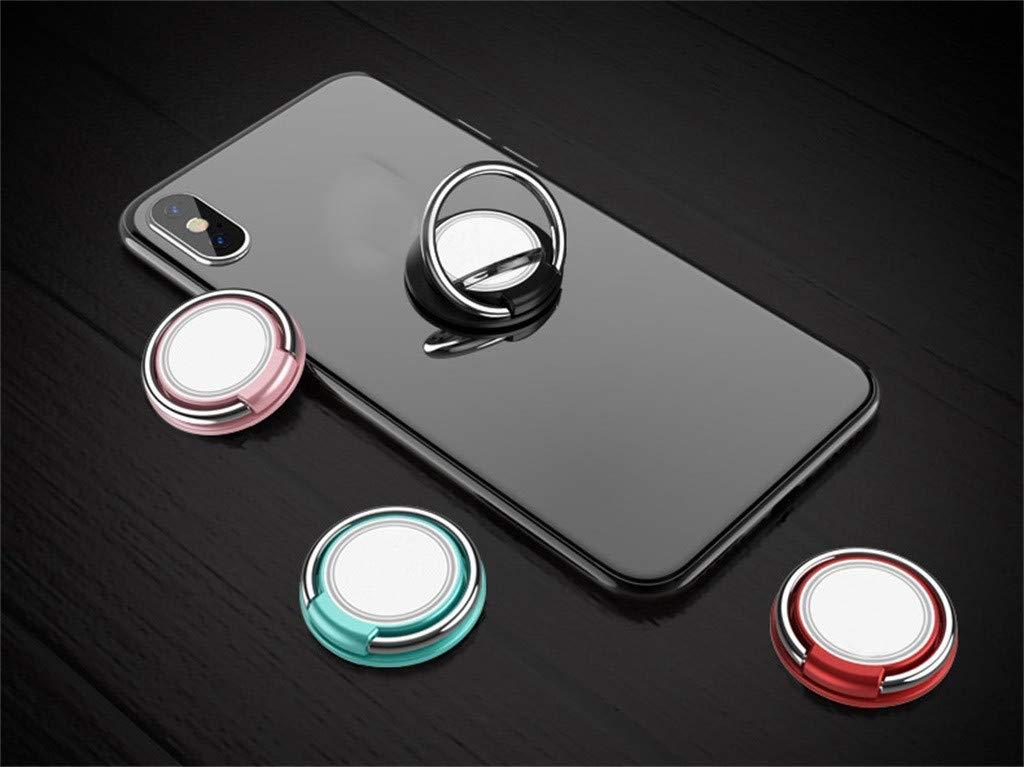 Black Afazfa Universal 360 Mini Finger Ring Cell Phone Holder Stand Magnetic Car Metal Grip