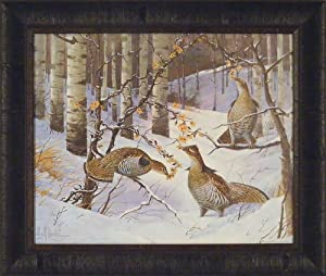 Amazon Com Ruffed Grouse By Les Kouba 20x24 Snow Trees
