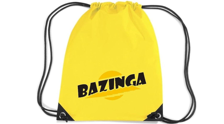 Shirtstown Premium gymsac Bazinga, fucsia