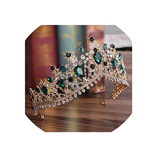 Luxury Rhinestone Bridal Tiaras Crown Silver Crystal Diadem for Bride Headbands Wedding Hair Jewelry Dress Accessories,Hybrid