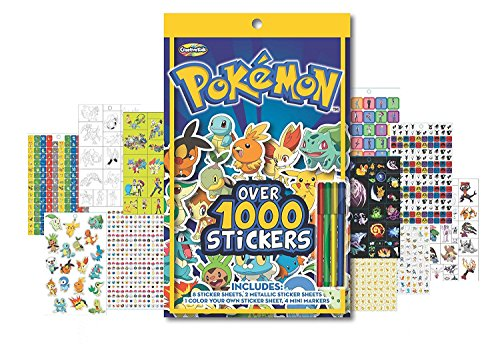 Pokemon Sticker Book - Includes over 1000 stickers