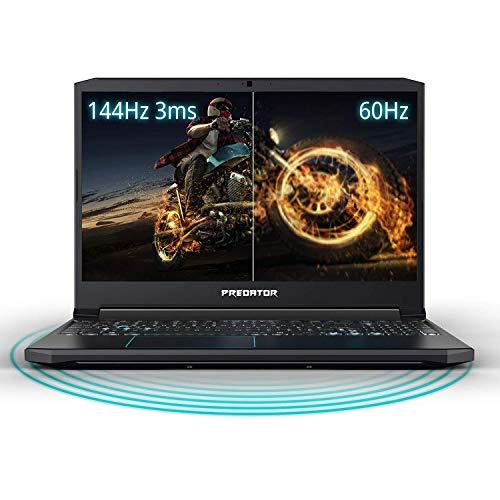 Acer Predator Helios 300 Gaming Laptop PC, 15.6 inches Full HD 144Hz 3ms IPS Display, Intel i7-9750H, GTX 1660 Ti 6GB, 16GB DDR4, 256GB PCIe NVMe SSD, Backlit Keyboard, PH315 (Renewed)