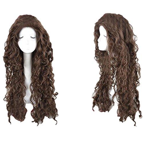 Bellatrix Lestrange Halloween Costumes (Xcoser Bellatrix Lestrange Wig Harry Cosplay Potter Long Brown Curly Wig)