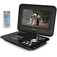 9.5-Inch Portable DVD Player, LDesign Headrest DVD Player for Car with Swivel Screen, 4-Hour Rechargeable Battery, SD Card Reading & USB Port, Remote Control and 8-Feet Car Adapter Power Cord