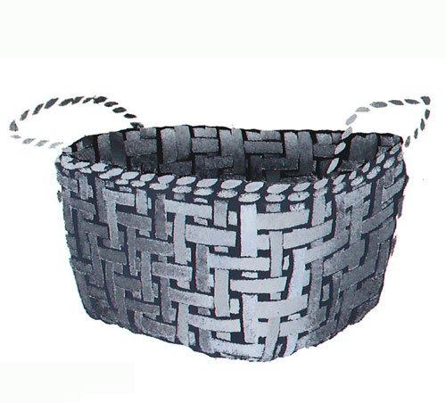 Petite Basket - Petite Woven Basket Wall Stencil - DEE620 by DeeSigns