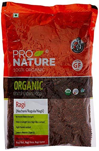 Pro Nature 100% Organic Ragi Millet, 500 g by Hindustan Mart