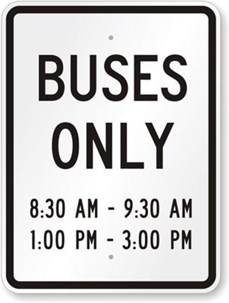 HNNT - Señal metálica de 20 x 30 cm con Texto en inglés New Buses ...