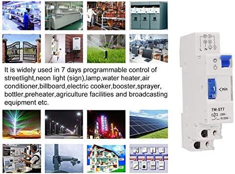 SINOTIMER TM-ST7 220V 7 minutos Temporizador mecánico 18 mm Módulo ...