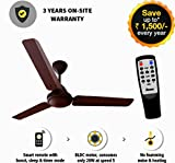Gorilla Energy Saving 5 Star Rated 1200 mm Ceiling Fan With Remote Control And Bldc Motor - Matt Brown