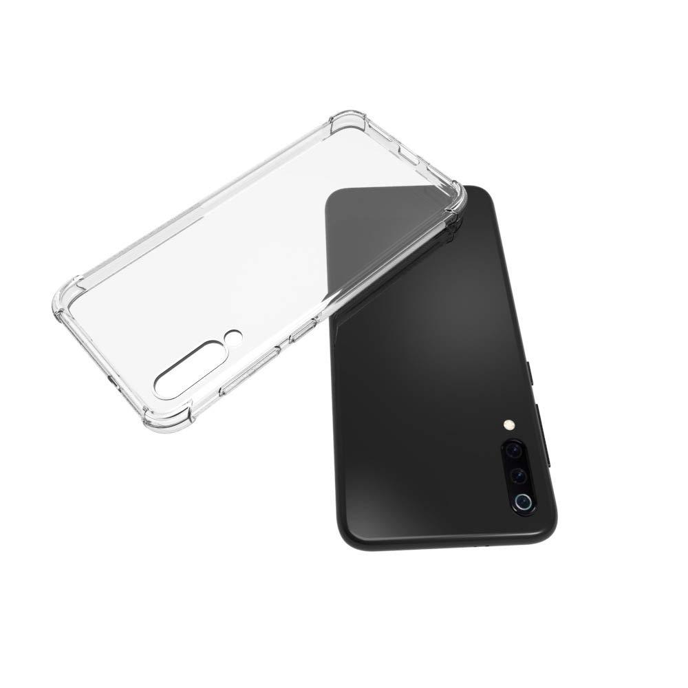 5.97 LJSM Funda - Carcasa Protectora Delgada y Transparente con Refuerzo en Las Esquinas Parachoques Fundas de TPU Flexible Protector de Pantalla para Xiaomi Mi 9 SE