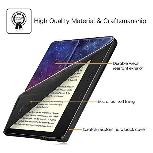 Fintie Origami Case for All-New Kindle Oasis (10th Generation, 2019 Release and 9th Generation, 2017 Release) - Slim Fit Stand Cover Support Hands Free Reading with Auto Wake Sleep, Galaxy