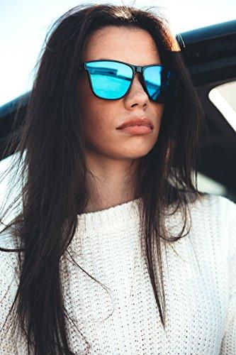 Negro de TWIG Blu mujer degradadas BRETON Gafas hombre sol espejo TqxOSS8w
