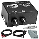 Rolls DB14B A/V Presenter Stereo Direct Box/Signal Separator w/ Individual Attenuator Controls, RCA I/O's & XLR Balanced Output and Accessory Bundle