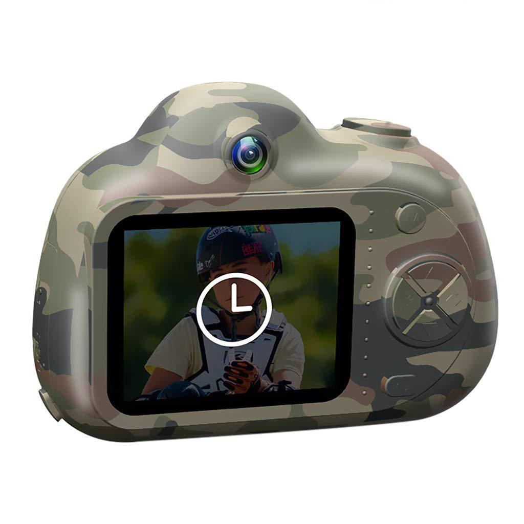 Zhen+ Mini Digitalkamera Kindertauglich, 2.0' IPS-Bildschirm 8MP HD Videokamera Tragbar Action Camcorder Camera, Spielzeug und Geschenk für Kinder (A-Tarnung)
