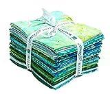 Ocean View Batik, 20pc Fat Quarter Bundle (18''x21'') Wilmington Batiks Cotton Fabric